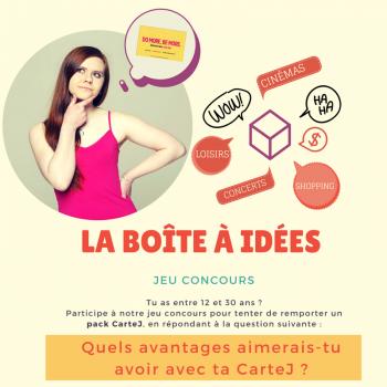Grand jeu concours CarteJ « La Boîte à Idées »