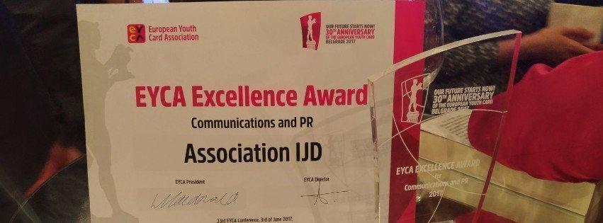 La Carte Jeunes Européenne récompensée aux EYCA Excellence Awards édition 2017!