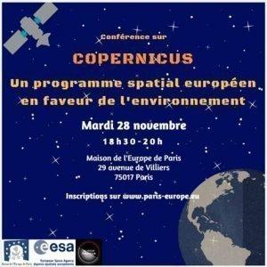 [Evénement Partenaire] Conférence sur Copernus Maison de l'Europe de Paris