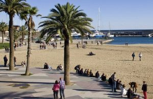 Photo de la plage de Barcelone